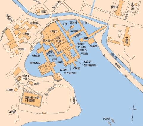 厳島神社境内図