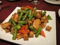 椒醤肉四季豆炒花蝦