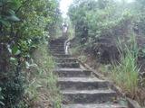 小馬山への急な石段