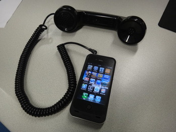 Retro Handset For Mobile Phone