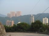 遠くに見える陽明山
