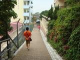 住宅街のハイキングコース