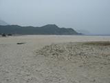 鹹田灣の砂浜