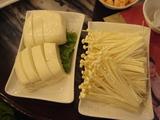 金�菜(エノキ)山水豆腐(とうふ)