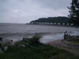 マカオの海