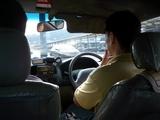 タクシー内部
