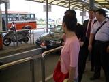 タクシースタンドの列