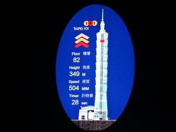 台北101世界最速エレベーター