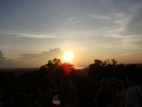 夕日の西バライ