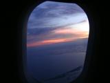 カンボジア夕日