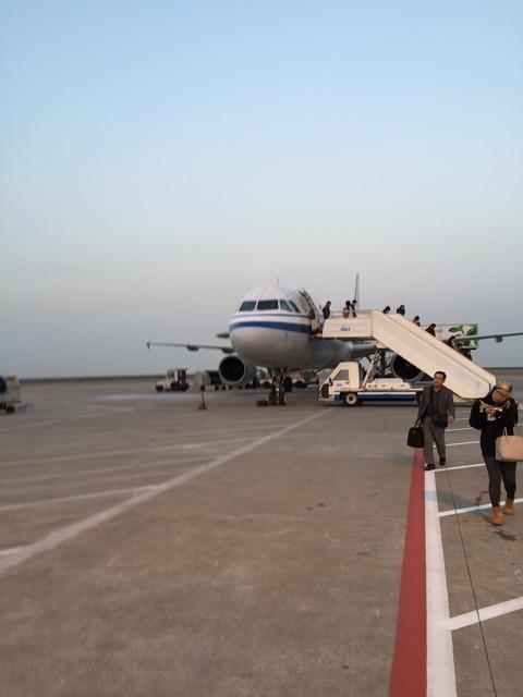 上海浦東国際空港とうちゃく
