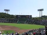 日射しの照りつける神戸スカイマークスタジアム