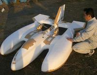 ベルシオンパワーで宙に浮く飛行艇