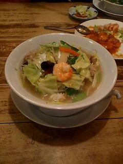 長州5のW野菜湯麺