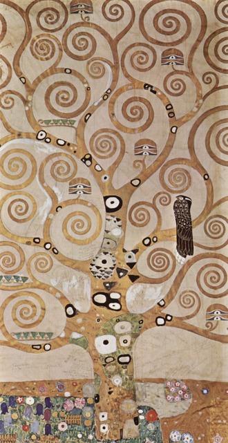 クリムト 生命の樹の下絵