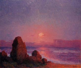 ピュイゴドー ブルターニュ海岸の日没