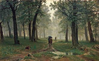 シーシキン 雨の樫林 トレチャコフ