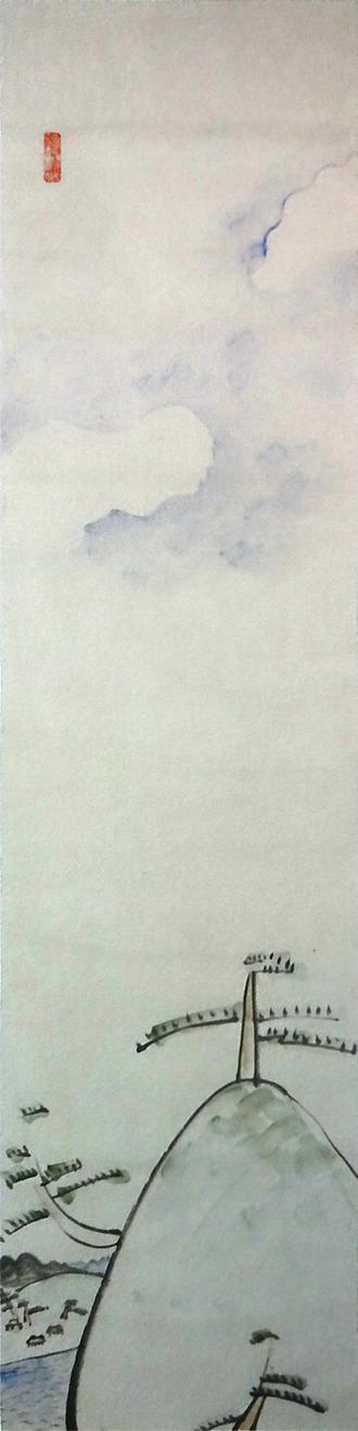 萬鉄五郎 山頂の松