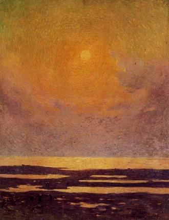 ピュイゴドー 海岸の日没