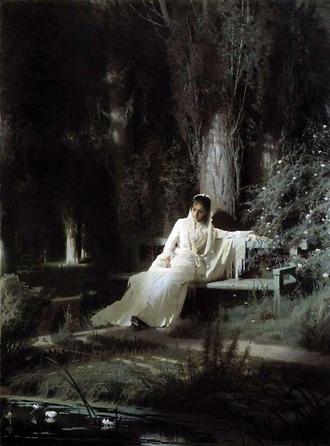 クラムスコイ 月明かりの夜 トレチャコフ