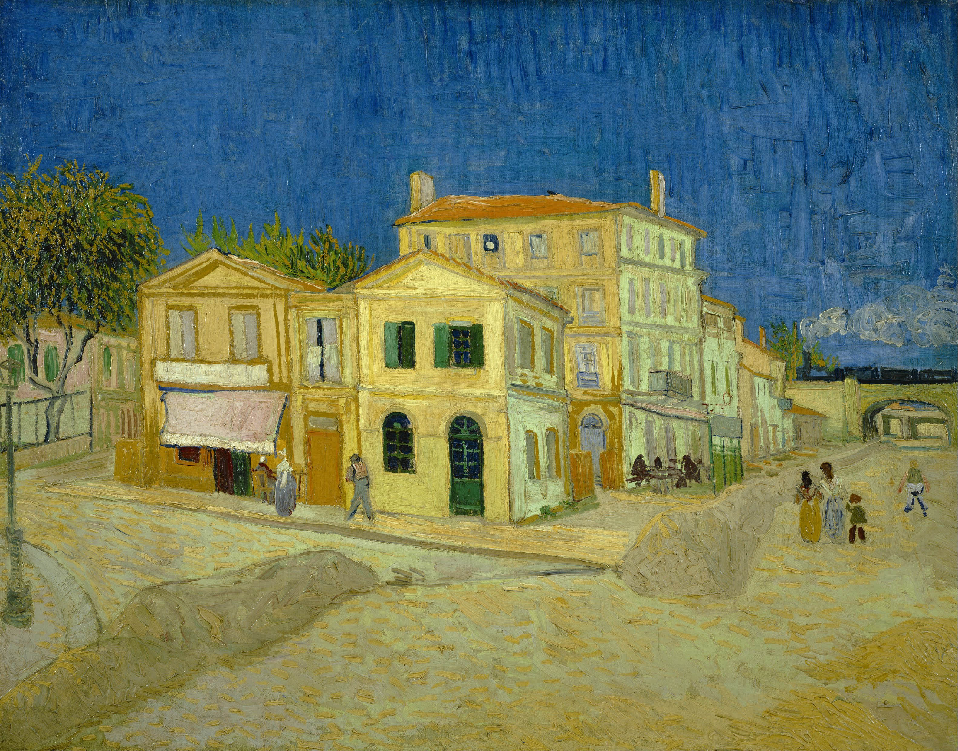 Image result for van gogh yellow house