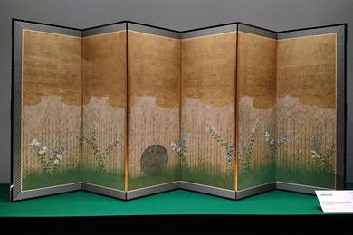 武蔵野図屛風 右隻