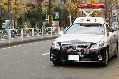パトカー 警察官 保護