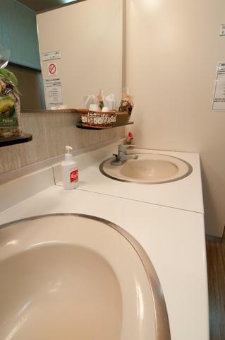 閉鎖病棟の洗面所
