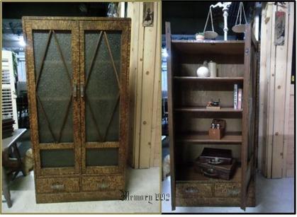 レトロな木製本箱