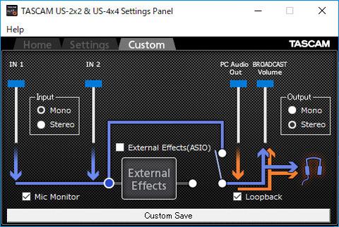 tascam_setting_panel