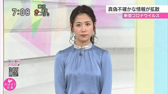 桑子真帆アナのおっぱい2