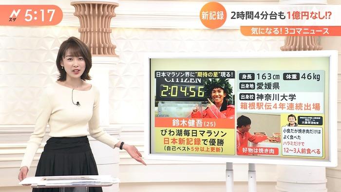 良原安美アナのニット胸7