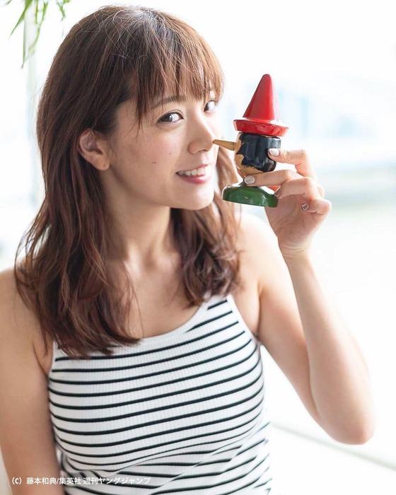 三谷紬アナの爆乳