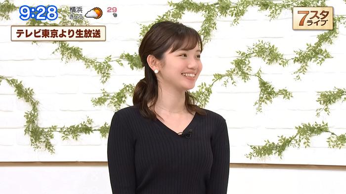 田中瞳アナのニットおっぱい