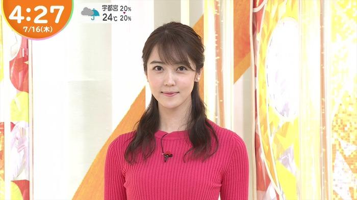 上野愛奈アナのニットおっぱい