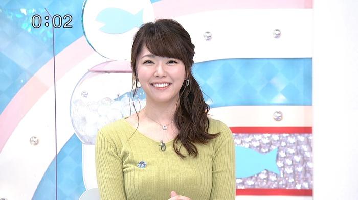 岡村帆奈美アナの巨乳