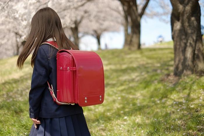女子小学生が棒に乗る