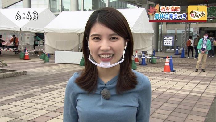 前川夏生アナの巨乳