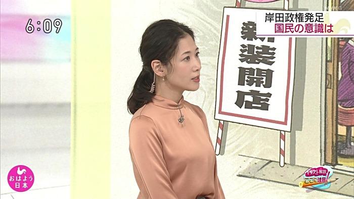 桑子真帆アナのおっぱい3