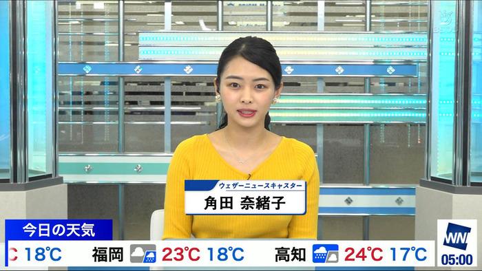 角田 奈緒子のニット巨乳