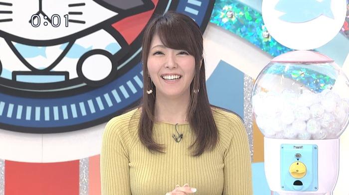 岡村帆奈美アナの魔乳