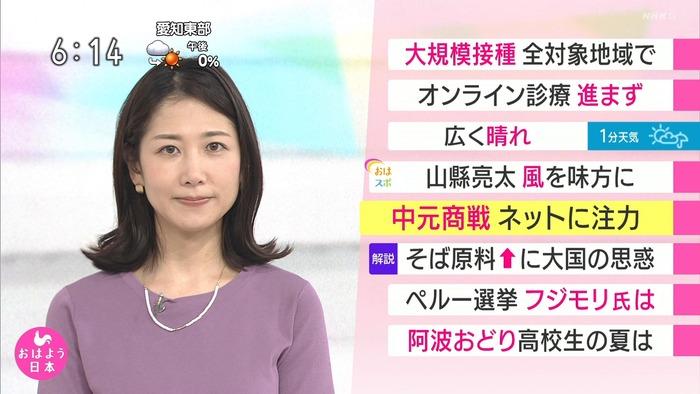 桑子真帆アナの巨乳