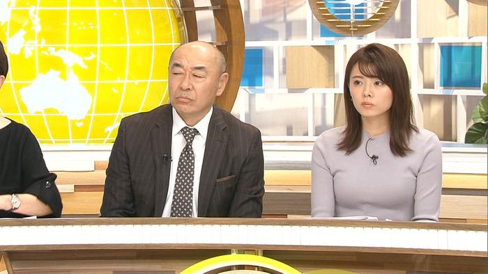 宮澤智アナウンサーのおっぱい