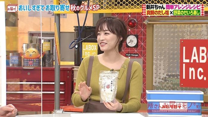 新井恵理那アナのニット乳1