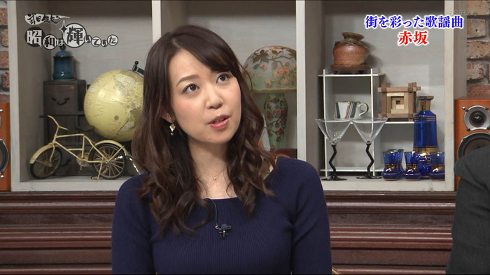 須黒清華アナのニット乳
