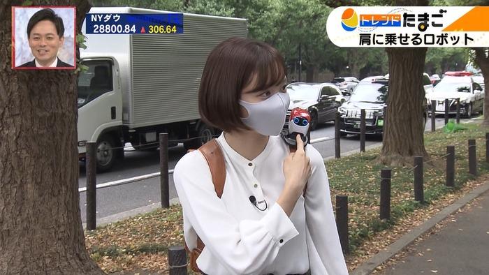 田中瞳アナのランドセルおっぱい