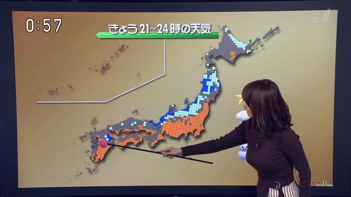 吉井明子さんの横乳