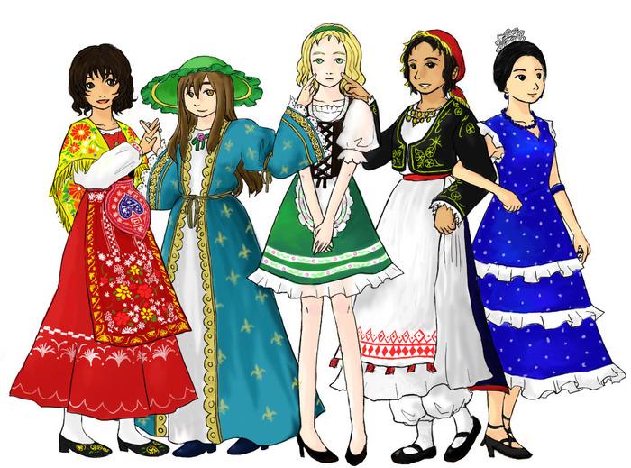 ディアンドル着たドイツ人女性のおっぱい