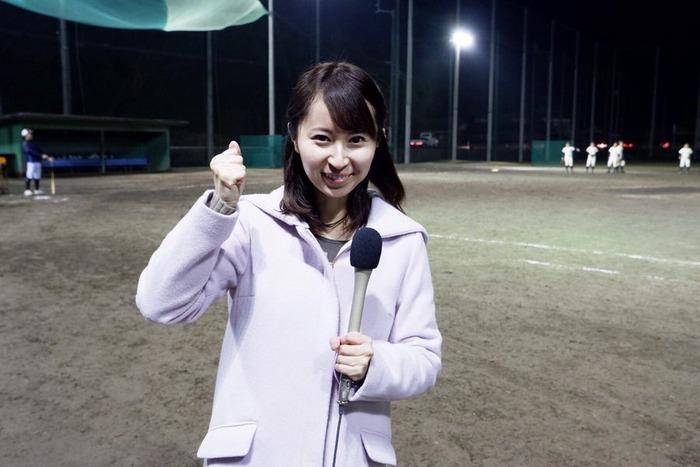中濱綾那アナの爆乳