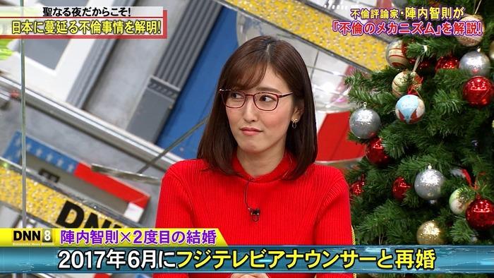 小澤陽子アナの赤ニットおっぱい